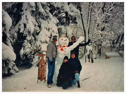 Snowman in Illinois
